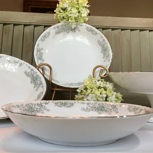 Vintage Dining - Norleans China Theresa Coupe Soup Bowl Set of 4